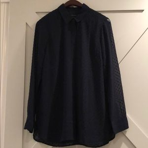 Brand new navy button down Talbots top
